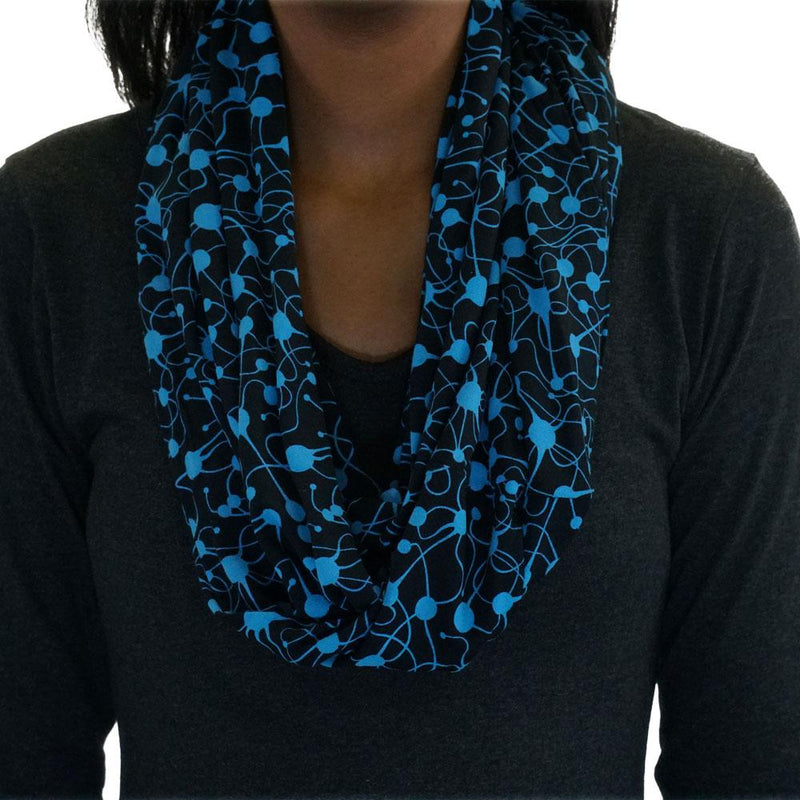 Neurons Glow-in-the-dark Scarf