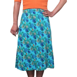 Coral Reefs Skirt, Ecosystem Skirt, Reef Skirt, Coral Skirt, Botany Skirt, Oceanographer Skirt, Oceanography Skirt, Marine Biology Skirt, Marine Biologist Skirt, Science Skirt, Underwater Skirt, STEM Skirt, Oceana Skirt, Sea Life Skirt with Pockets - SVAHA USA - Svaha USA
