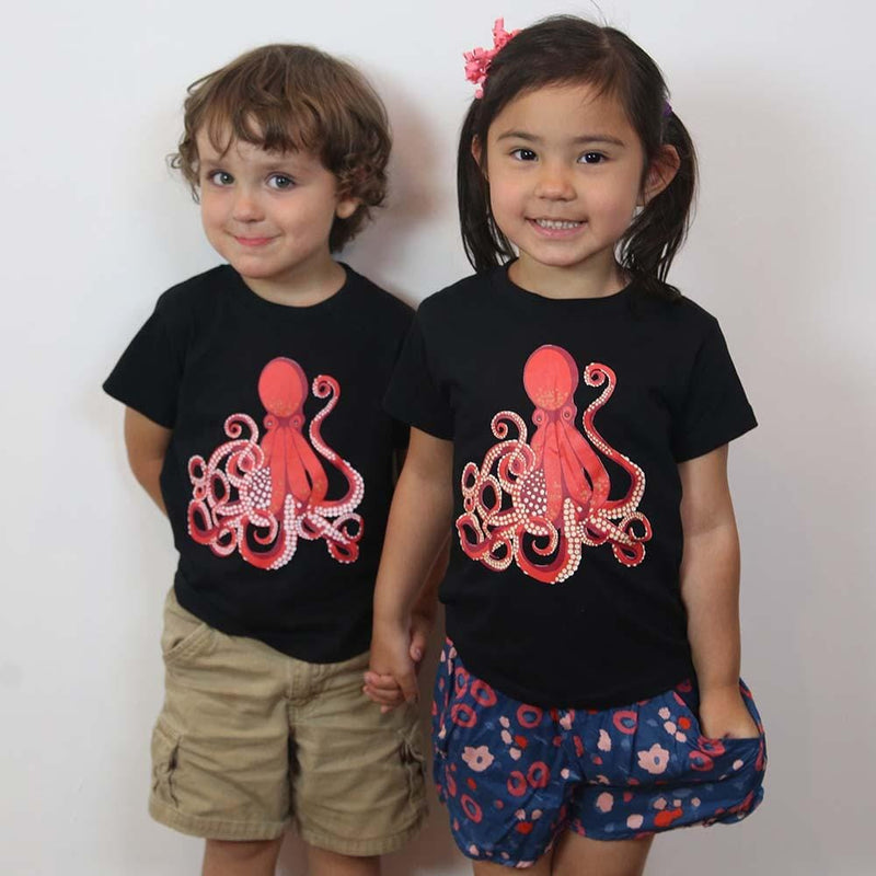Octopus Glow-in-the-Dark Kids T-Shirt - Svaha Apparel