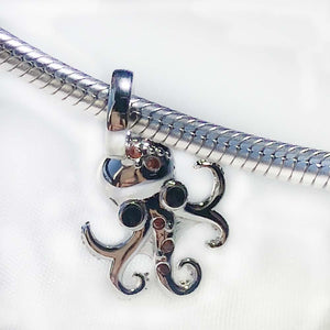 Octopus Sterling Silver Charm - Svaha Apparel