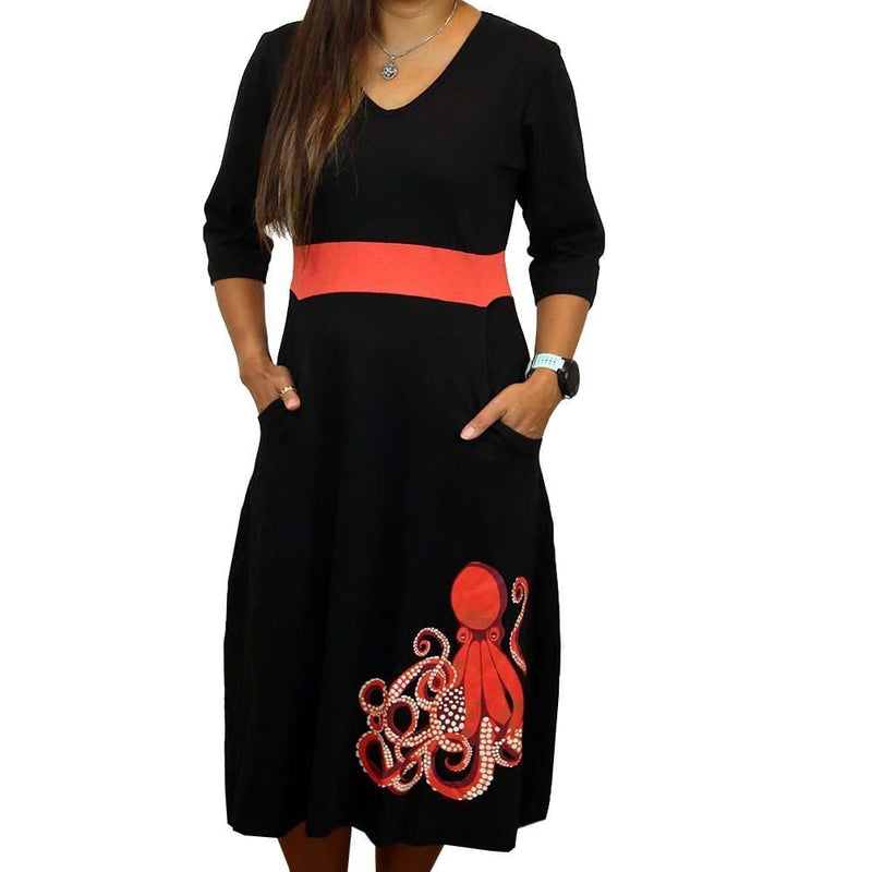 Octopus Glow-in-the-Dark Fit & Flare Dress