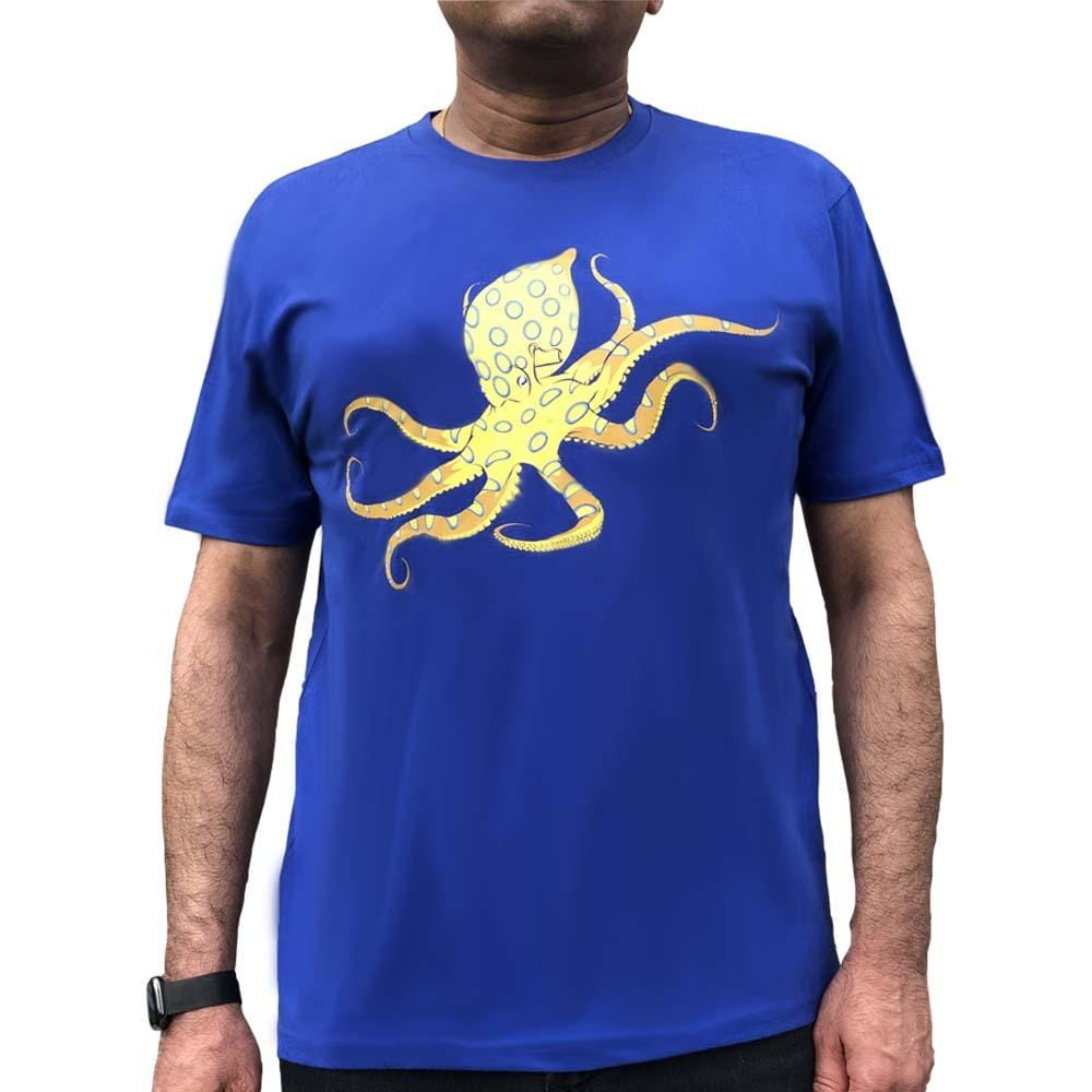 46a869f8de3ca Blue-Ringed Octopus Glow-in-the-Dark Unisex Adults T-Shirt