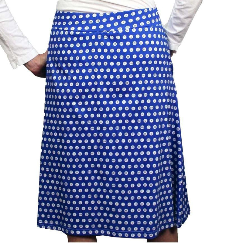 International Phonetic Symbols Polka Dots A-Line Skirt