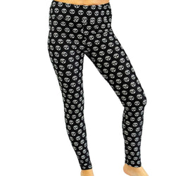 Pi Symbols Adult Leggings - Svaha Apparel legging symbol circle math math-inspired print printed all-over-print black polyester soft casual pocket pockets women womens woman womans STEM STEM-inspired mathmetics bestsellers bestseller best pocket pockets Pi math STEM pocket pockets