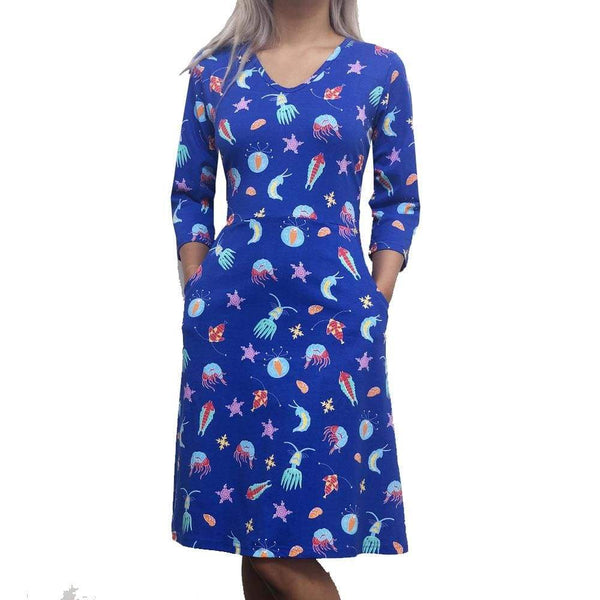 Zooplankton Dress, Plankters Dress, Plankton Dress, Aquatic Dress, Plankton Dress, Science Dress, Ocean Dress, Oceanography Dress, Marine Biology Dress, Ocean Dress, Sea Creatures Dress,  Zooplankton Dress with Pockets- SVAHA USA