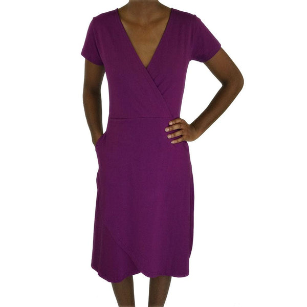 Ultraviolet Faux Wrap Grace Dress