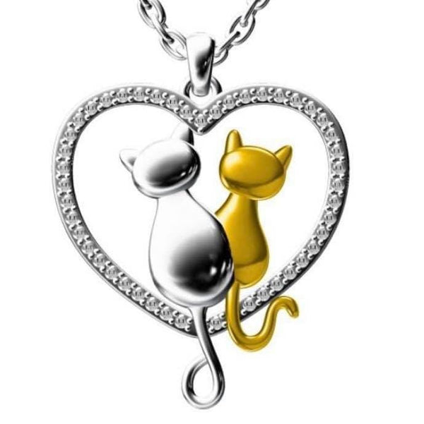 Purrfect Together! Sterling Silver Necklace [FINAL SALE]