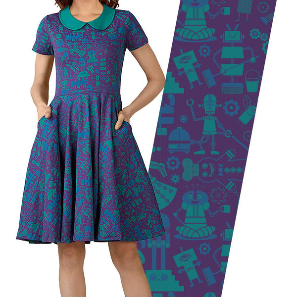 Robots We Want Parks Twirl Dress