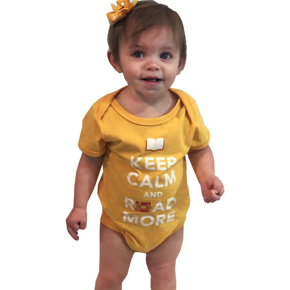 'Keep Calm and Read More' Baby Bodysuit - Svaha USA