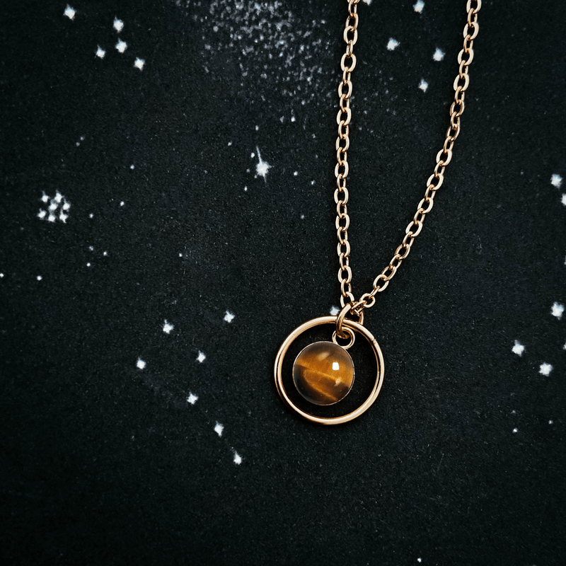 Rings of Saturn Mini Necklace