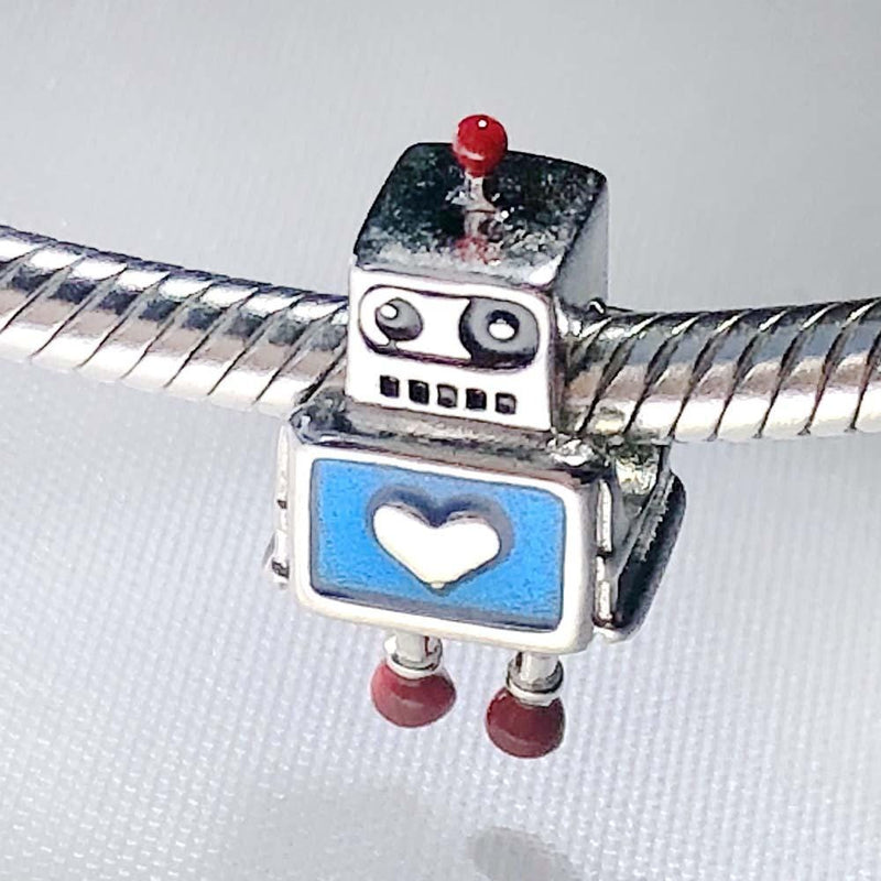 Robot Friend Sterling Silver Charm