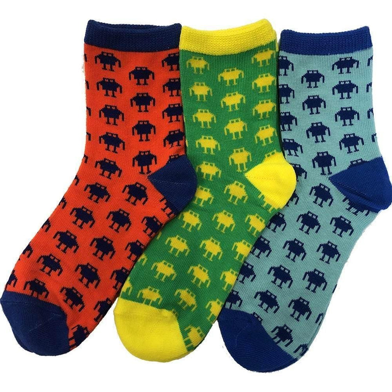 Robot Lover Kids Socks Bundle - 3-Pack
