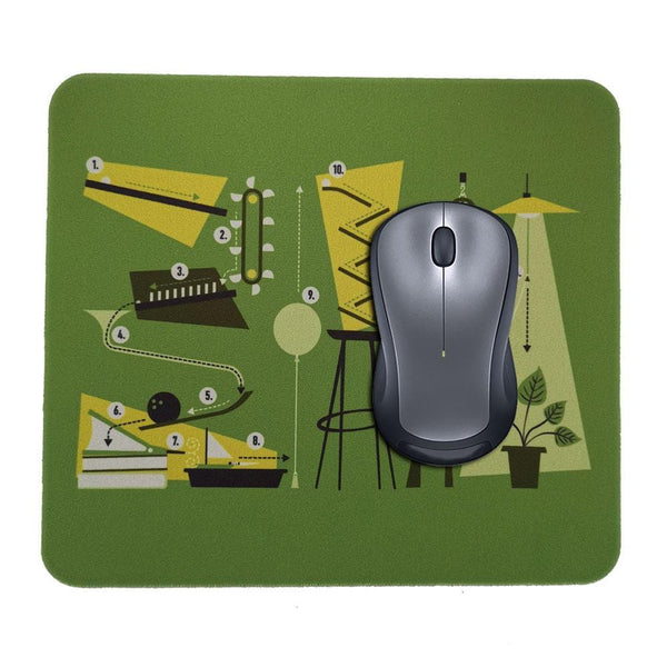 Rube Goldberg Experiment Mouse Pad