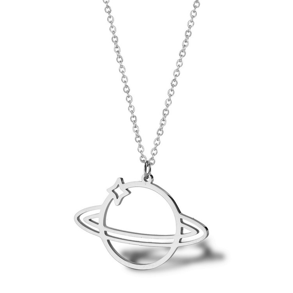 Saturn Stainless Steel Necklace