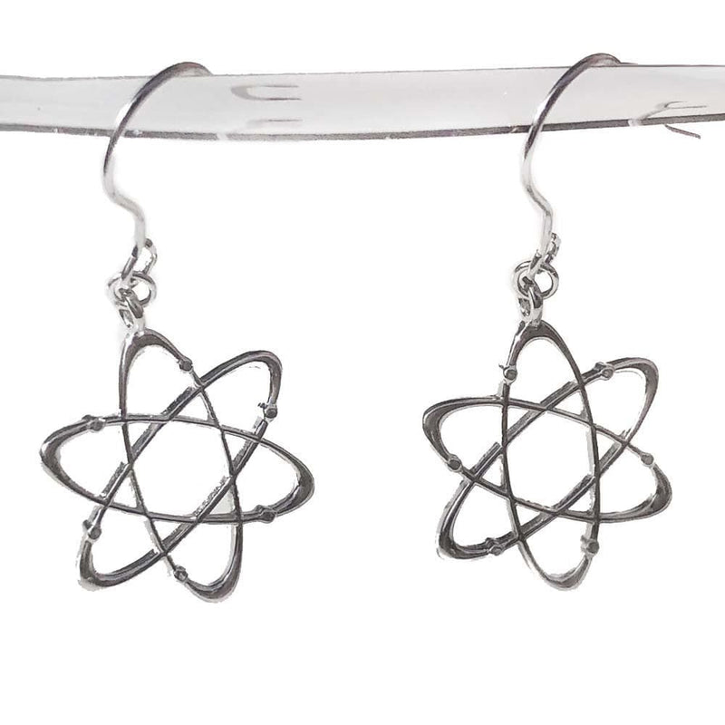 Atomic Sterling Silver Dangle Earrings
