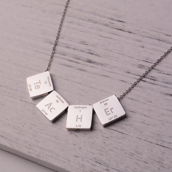 Chemistry Necklace, Elements Necklace, Teacher Necklace, STEM NEcklace, Science Necklace, Period Table Elements, Teacher Necklace, STEM Necklace, Science Necklace, Chemistry Necklace - SVAHA USA