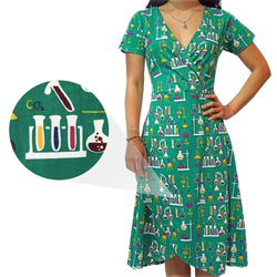 Chemistry Lab Faux Wrap Grace Dress [FINAL SALE]