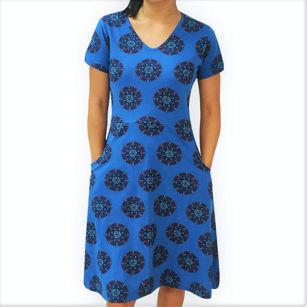 Womens Science Dress, Womens Chemistry Dress, Womens Scientist Dress, Womens Atom Dress, Womens STEM Dress, Science Mandala Dress with Pockets - SVAHA USA