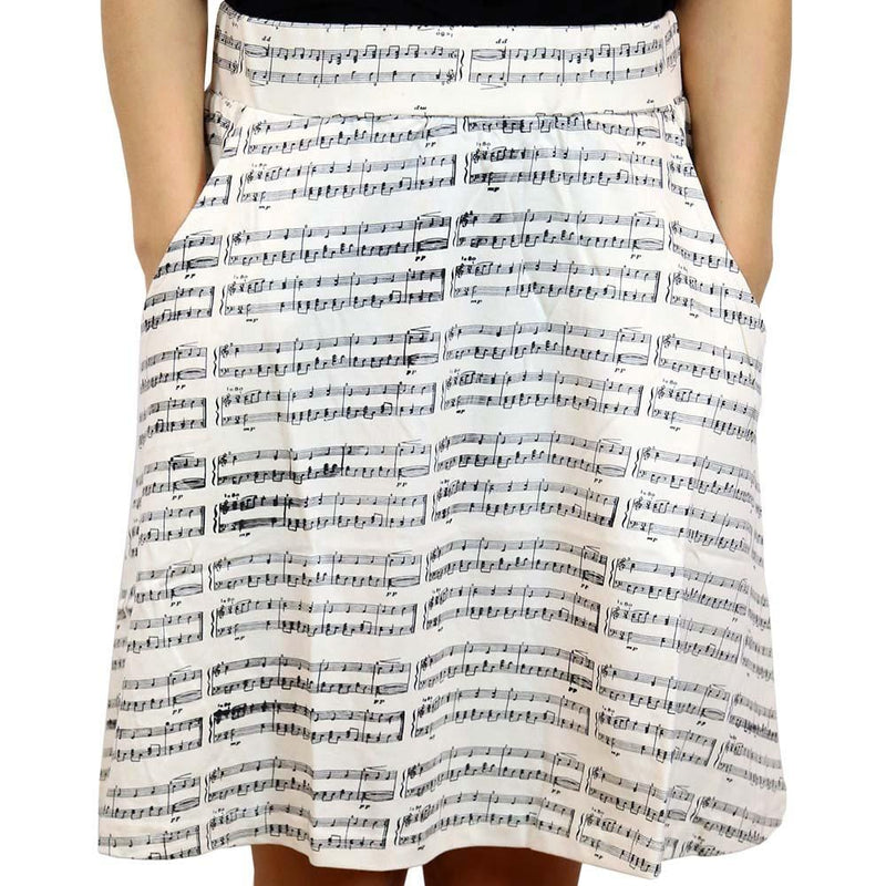 Music Skirt, Musical Skirt, Sheet Music Skirt, Arts Skirt, STEM Skirt, Musical Skirt, Instrument Skirt, Musical Skirt with Pockets - SVAHA USA