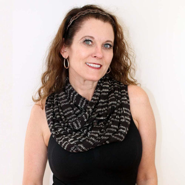 Sheet Music Infinity Scarf (Black)