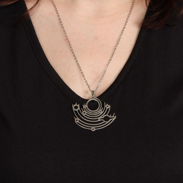 Solar System Stainless Steel Necklace