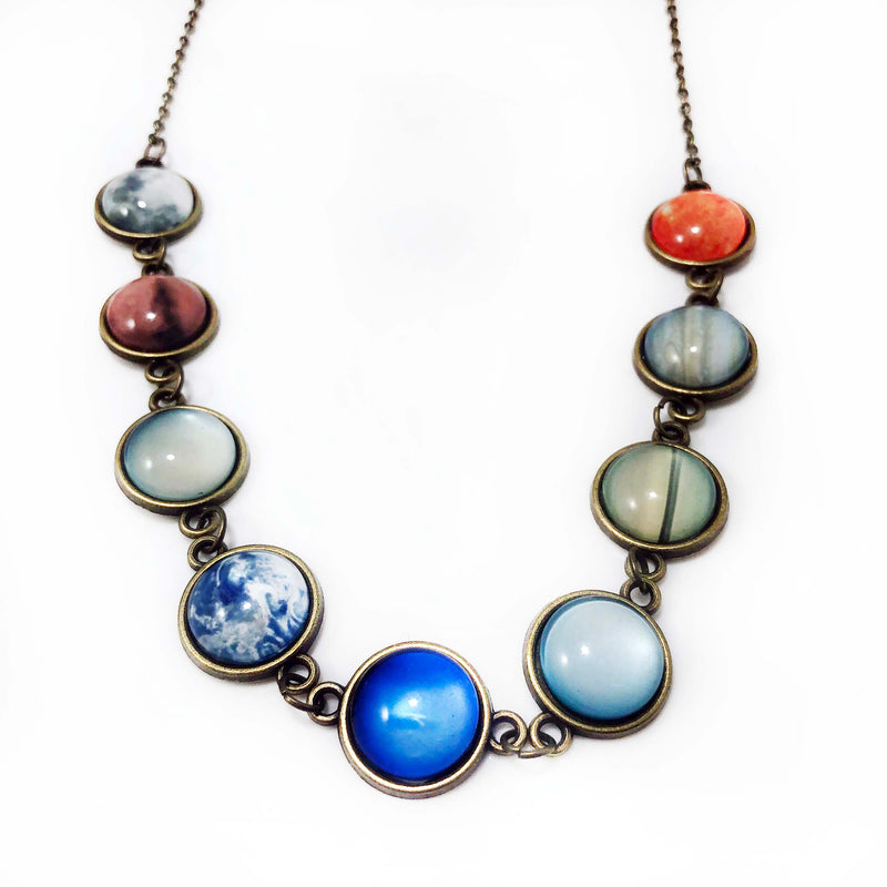 Long Solar System Necklace - Svaha USA