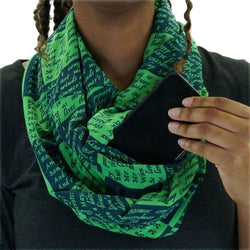 Sonnet 18 Infinity Scarf With Pockets