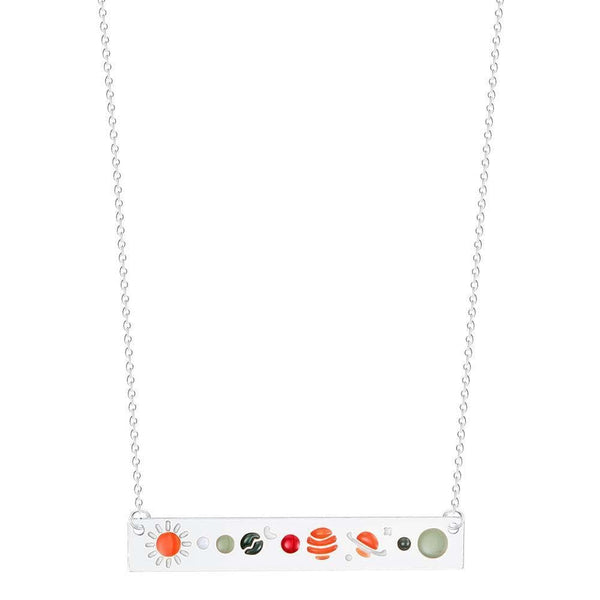 Outerspace Necklace, Galaxy Necklace, Astronomy Necklace, STEM Necklace, Science Necklace, Planets Necklace, Space Necklace, Astronomy Necklace, Galaxy Necklace, Science Necklace, Solar System Pendant Necklace - SVAHA USA