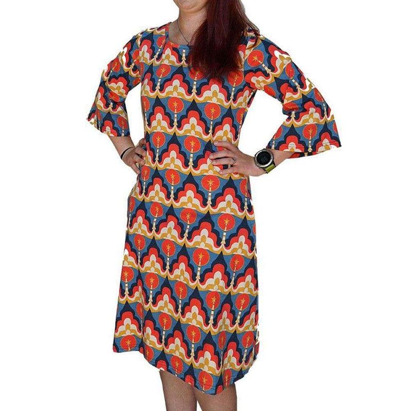Retro Rocket Launch Curie Dress