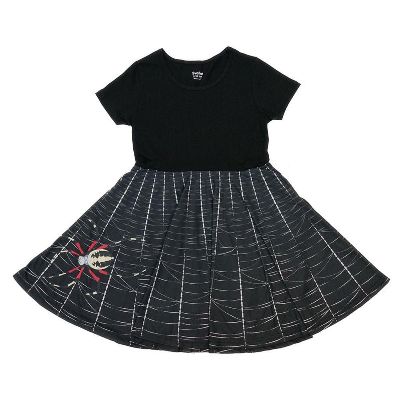 Spider Web Kids Twirl Dress