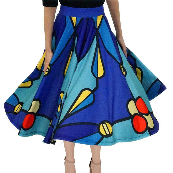 Stained Glass Atom Twirl Skirt