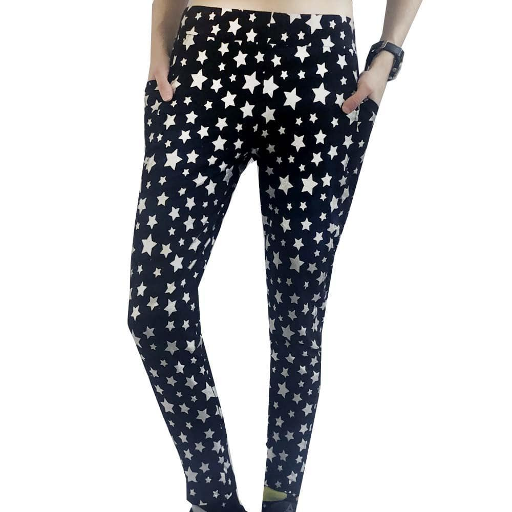 4f8848b9cd Starry Night Sparkles Adult Leggings with Pockets - Svaha Apparel