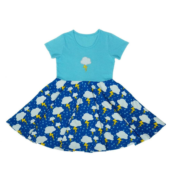 Stormy Day Kids Twirl Dress