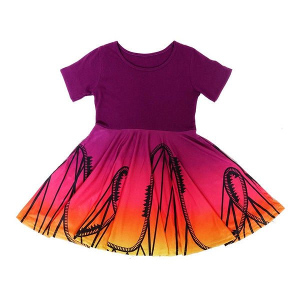 Summer's End Roller Coaster Kids Dress