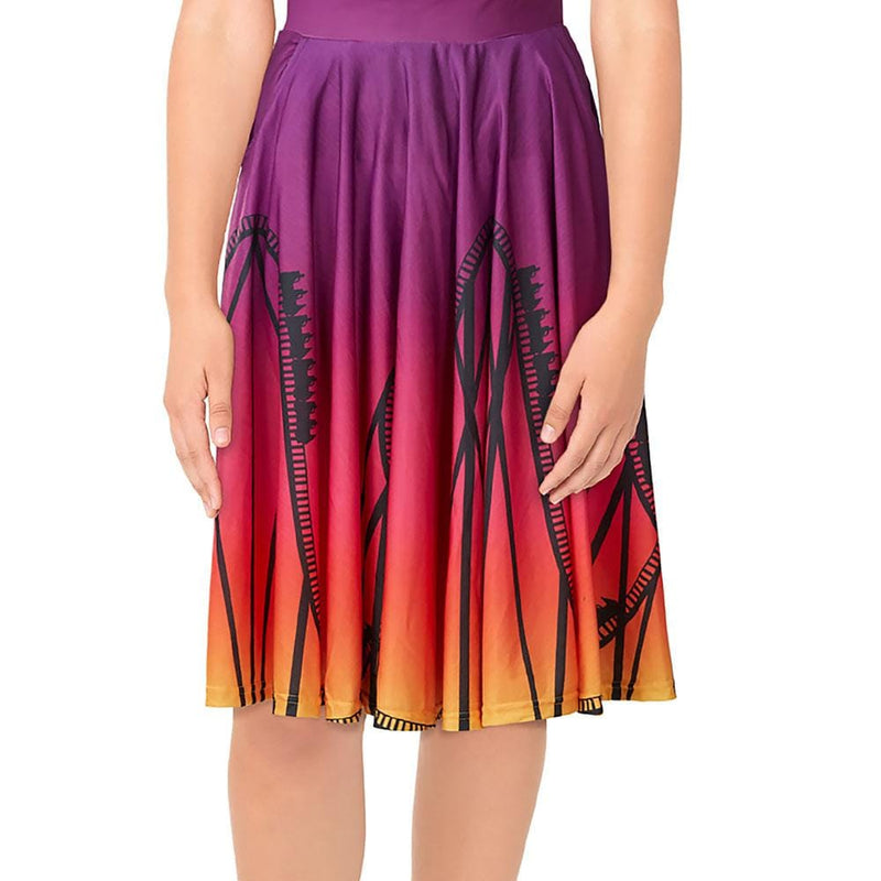 Summer's End Roller Coaster Twirl Skirt