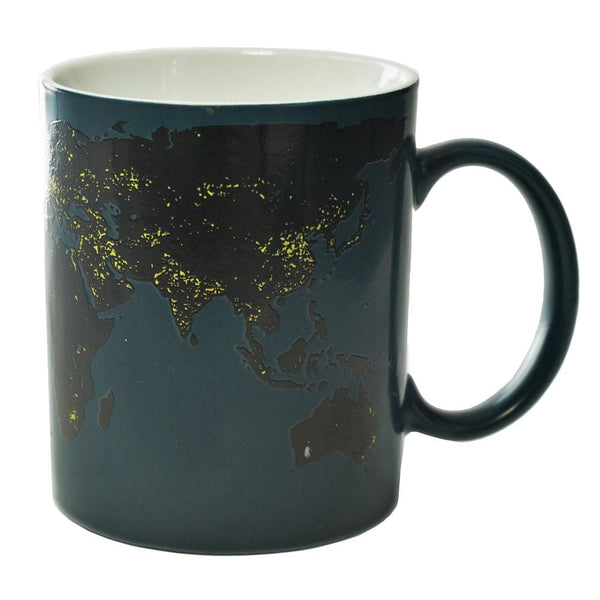 World Map Geography Heat-Activating Mug