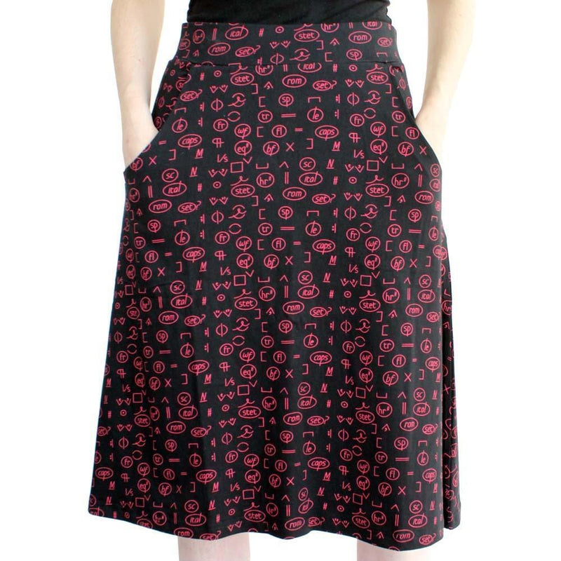 Grammar Skirt, Literature Skirt, Language Arts Skirt, Literacy Skirt, Linguists Skirt, Humanities Skirt, Grammar Skirt, English Skirt, Editor Skirt, Humanities Skirt, STEM Skirt, Editing Marks Skirt with Pockets - SVAHA USA