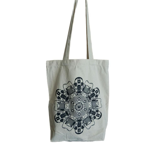 Technology Mandala Tote Bag