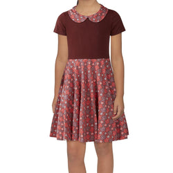 Tessellating Sloths Kids Twirl Dress