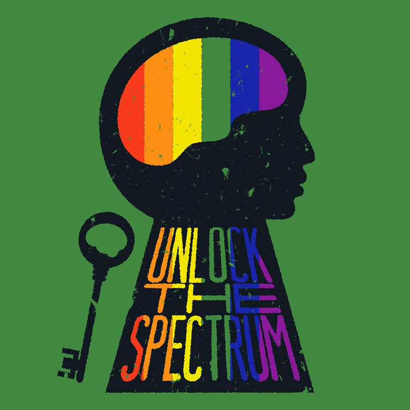 Unlock the Spectrum Unisex Adults T-shirt