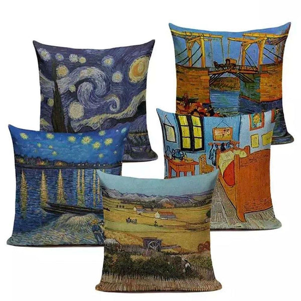 Van Gogh Art Cushion Covers Set