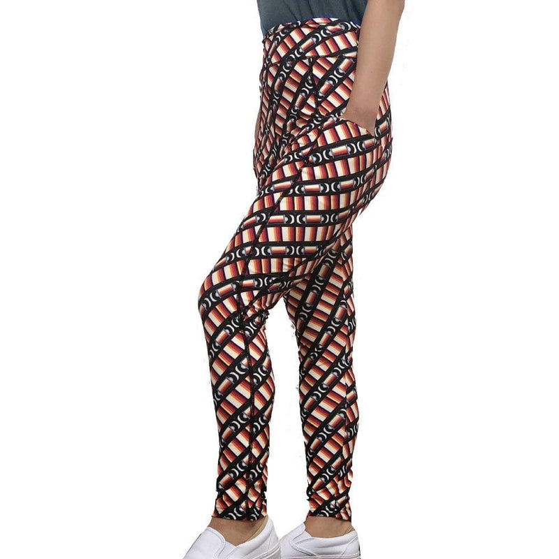 Technology Leggings with Pockets, VHS Leggings with Pockets, Geek Leggings with Pockets, Womens Leggings with Pockets, Printed Leggings with Pockets, VCR Leggings with Pockets, Video Leggings with Pockets, Retro VHS Leggings with Pockets - SVAHA USA