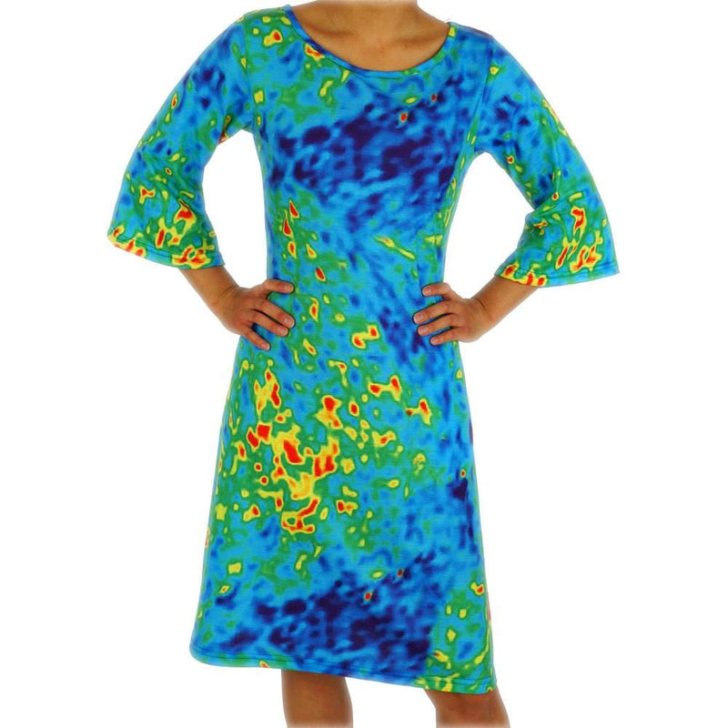 Radiant Cosmic Colors Curie Dress