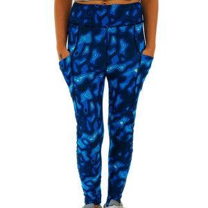 Topographic Map Adults Leggings with Pockets