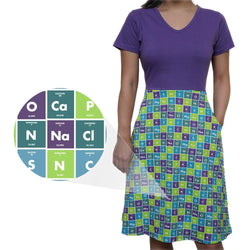 Human Body Periodic Elements Ada Dress [FINAL SALE]