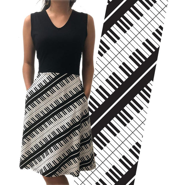Piano Keys Sleeveless Eileen Dress