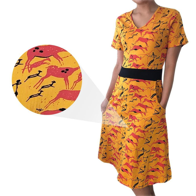 Ancient Cave Art Ruby Dress [FINAL SALE]