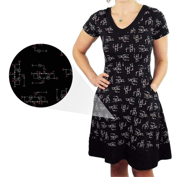 Circuit Diagrams Fit & Flare Dress