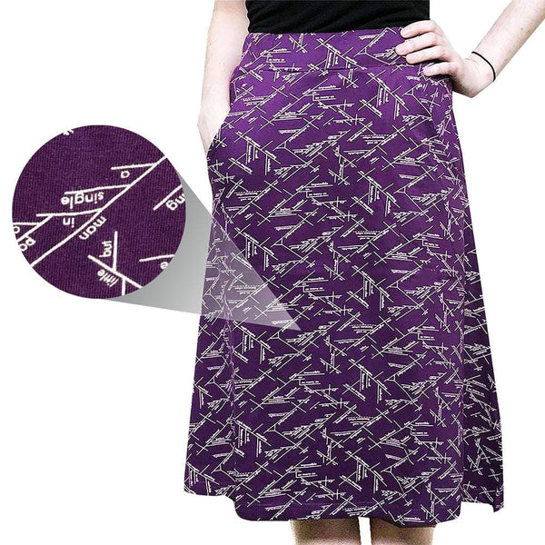 Sentence Diagrams A-Line Skirt [FINAL SALE]