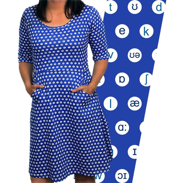 International Phonetic Symbols Polka Dots Dress